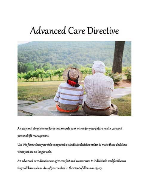ADVANCED CARE DIRECTIVE FORM